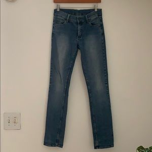 Cheap Monday Skinny Light Wash Mid Rise Jeans sz28